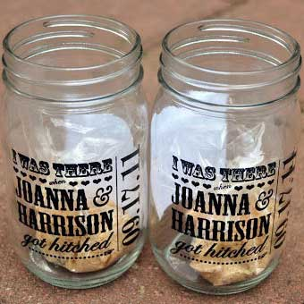mason jar wedding labels
