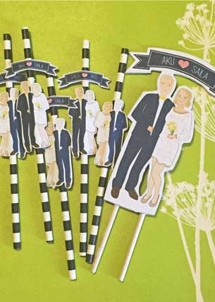 custom wedding straws