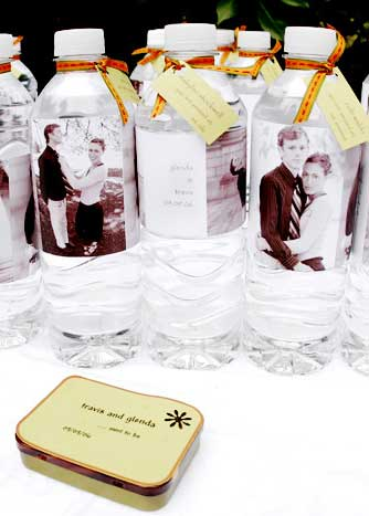 custon photo water bottle labels