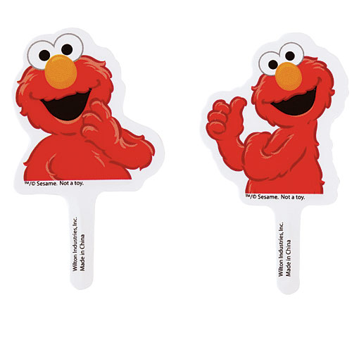 elmo cupcake picks