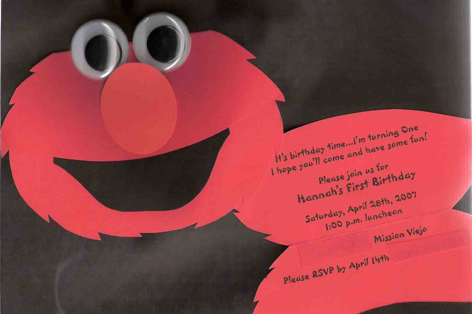 elmo party invitations