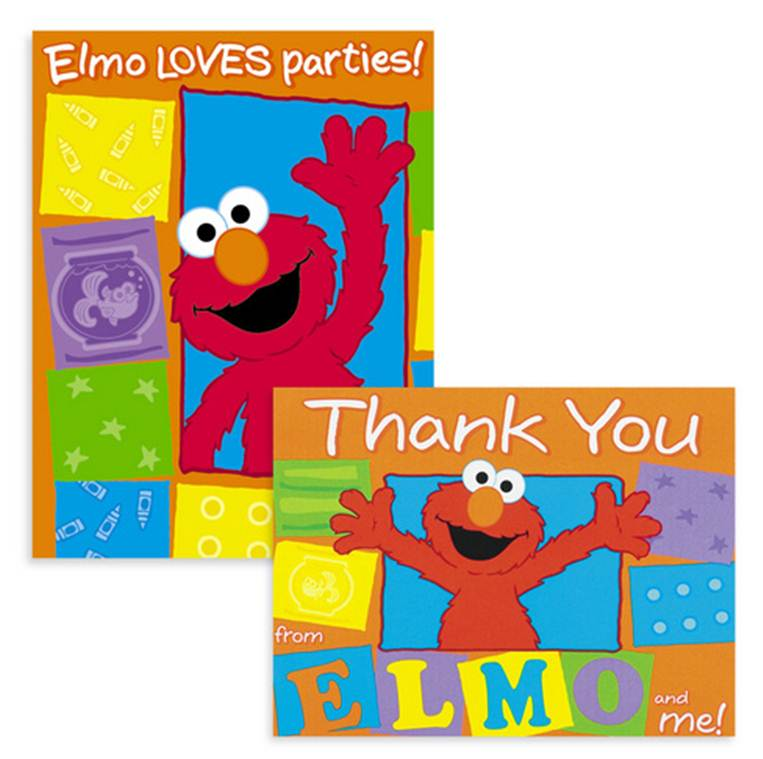elmo birthday invitations