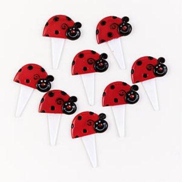 ladybug cake picks