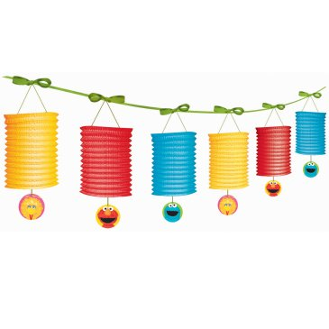 sesame street paper garlands