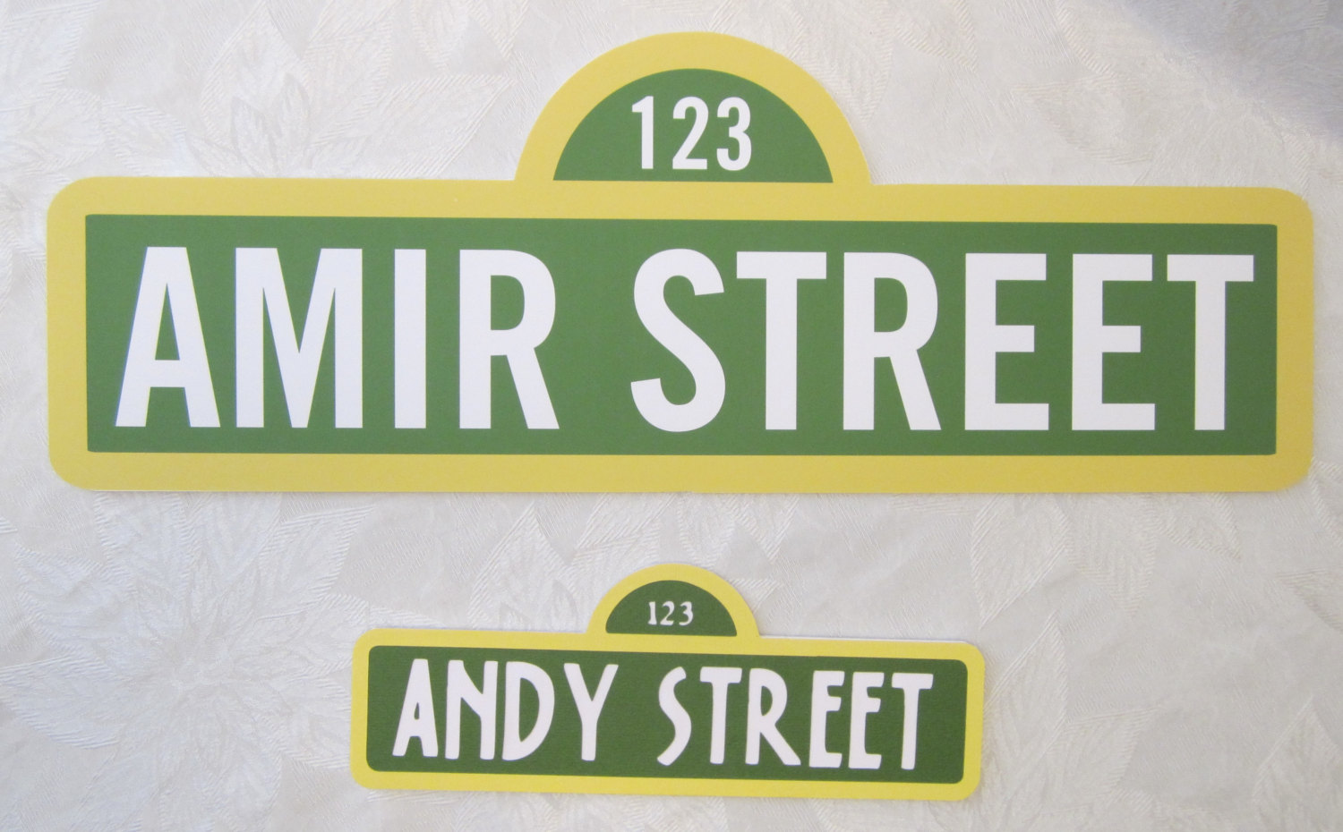 personalized sesame street sign