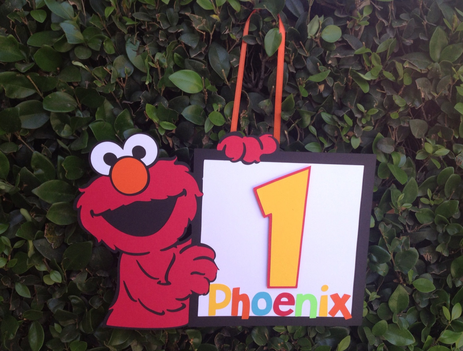 elmo personalized yard sign