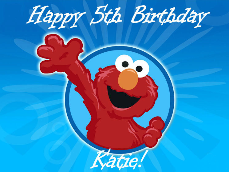 personalized elmo edible cake image