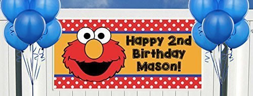 personalized elmo party banner