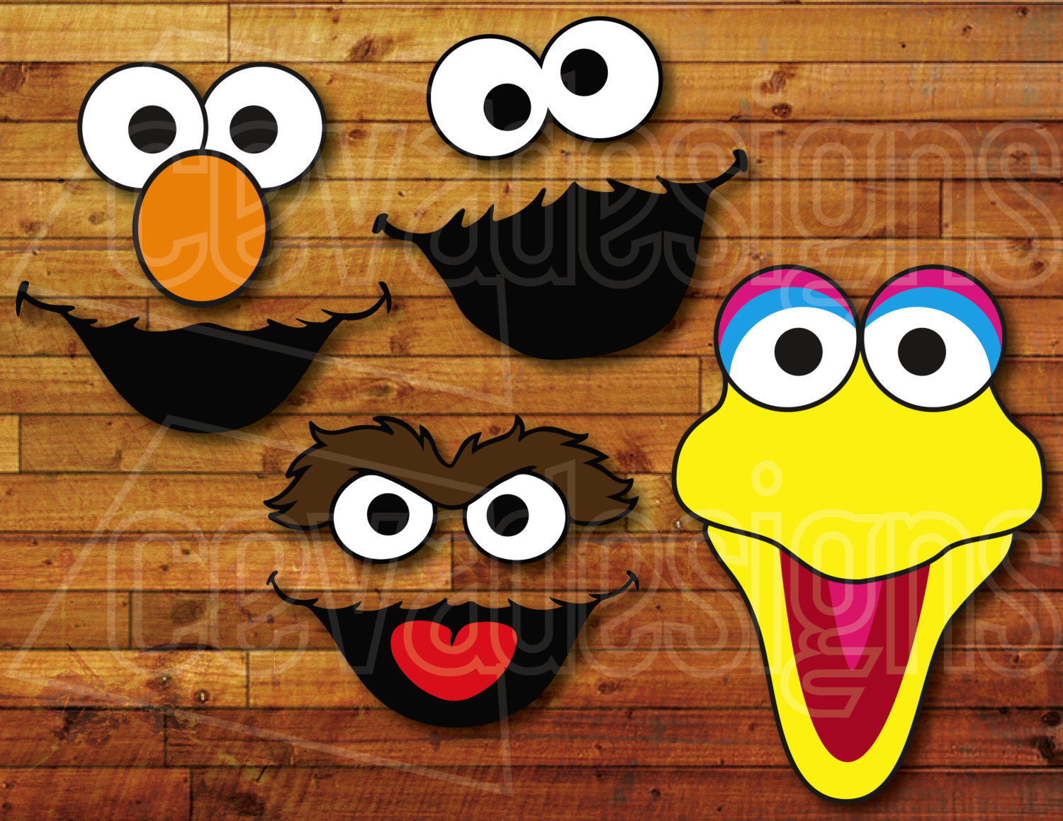 sesame street printable faces