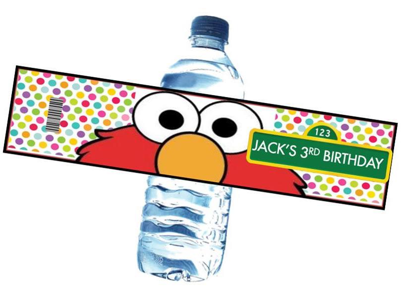 elmo water bottle labels