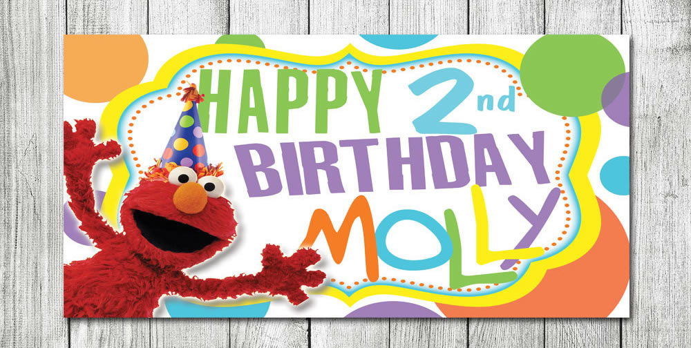 personalized elmo birthday party banner