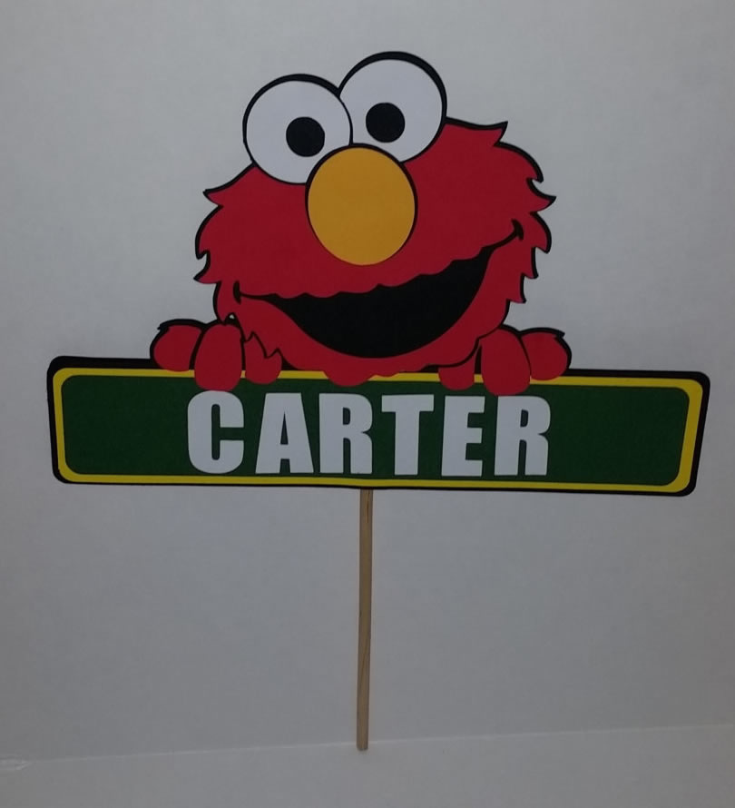 personalized elmo cake topper