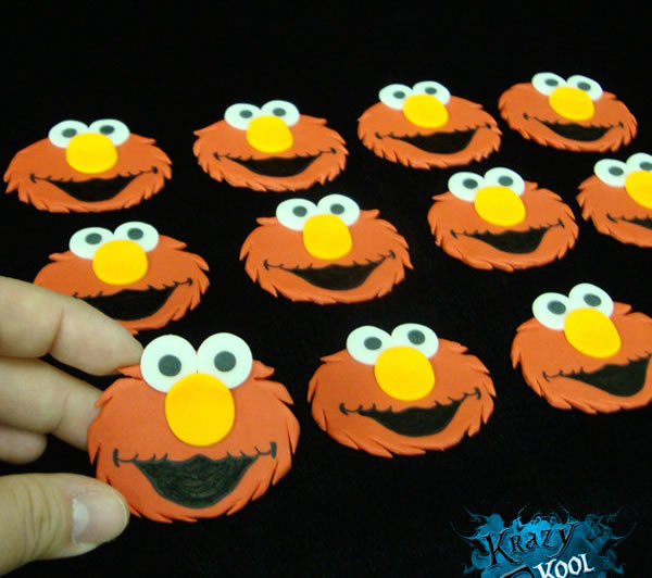 elmo edible cupcake toppers