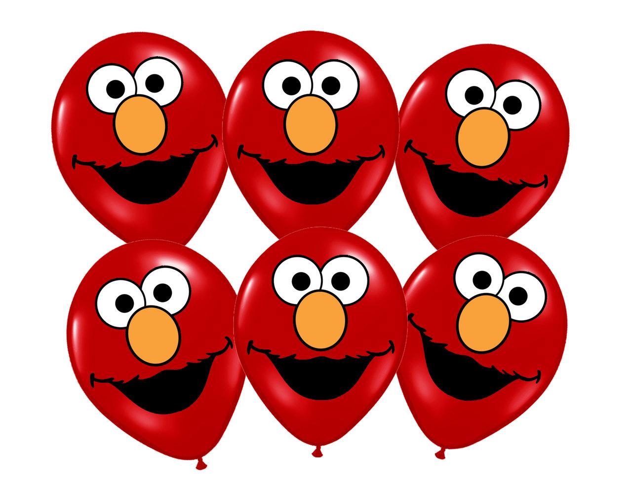 elmo face balloons