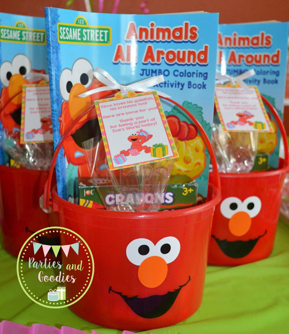 elmo treat pails
