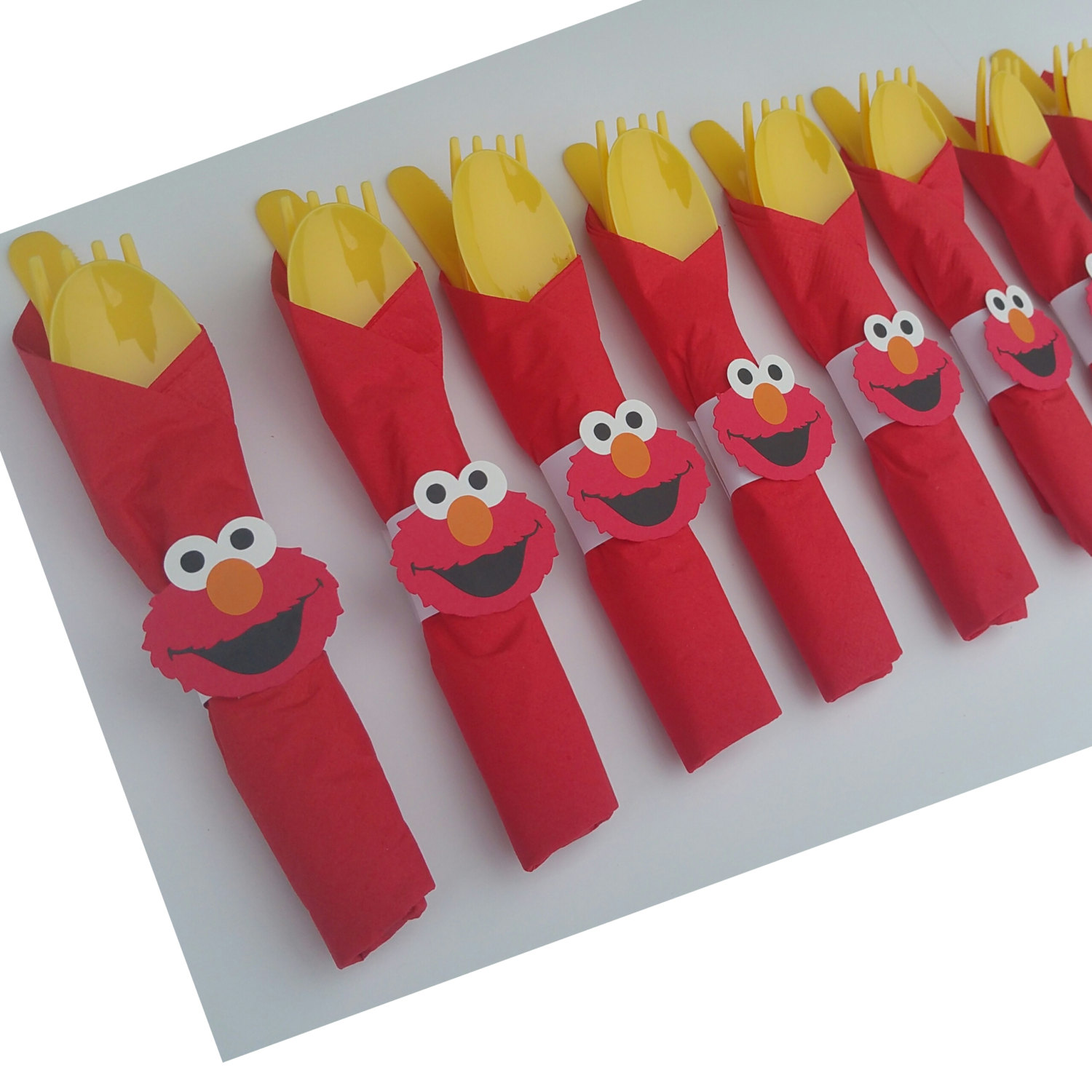 elmo party cutlery