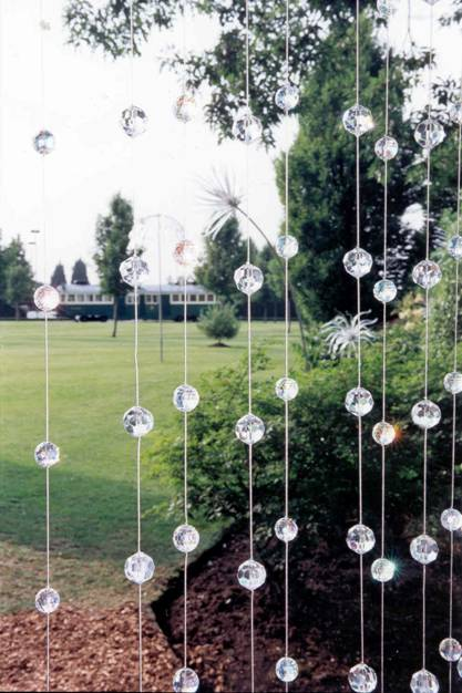 garden party decorations crystal trees