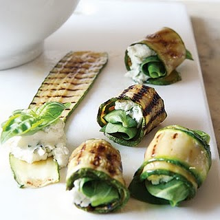 Lamb And Rosemary Zucchini Roll Ups