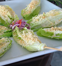 skewered ceasar salad