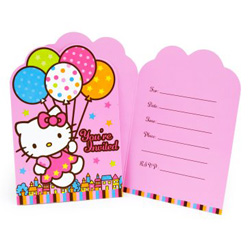 hello kitty birthday party invitations