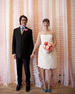 tissue paper garlands