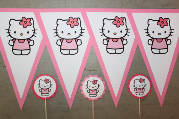 hello kitty pennant banner