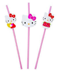 hello kitty straws