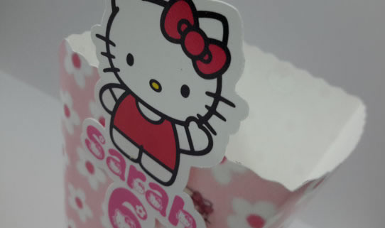 Hello Kitty popcorn boxes
