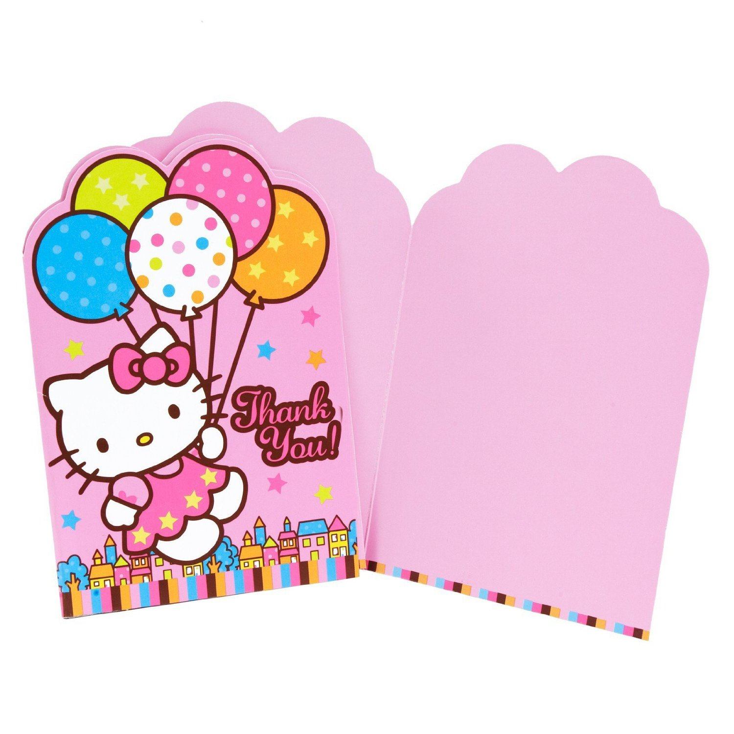 hello kitty thank you notes