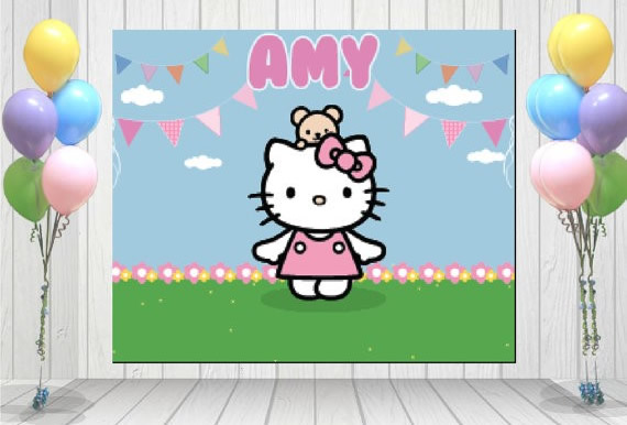 hello kitty personalized backdrop