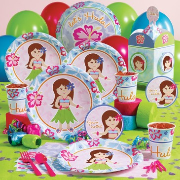 kid birthday party ideas hawaiian girl
