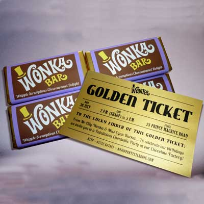 willy wonka golden ticket invitation