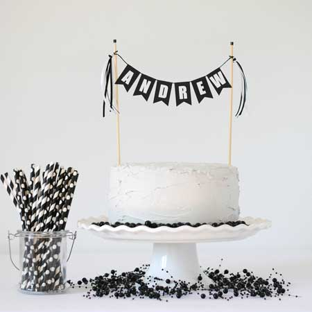 custom name birthday cake topper