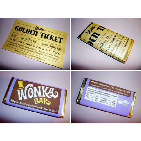 Wonka bar invitation