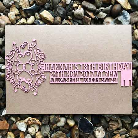laser cut key invitation