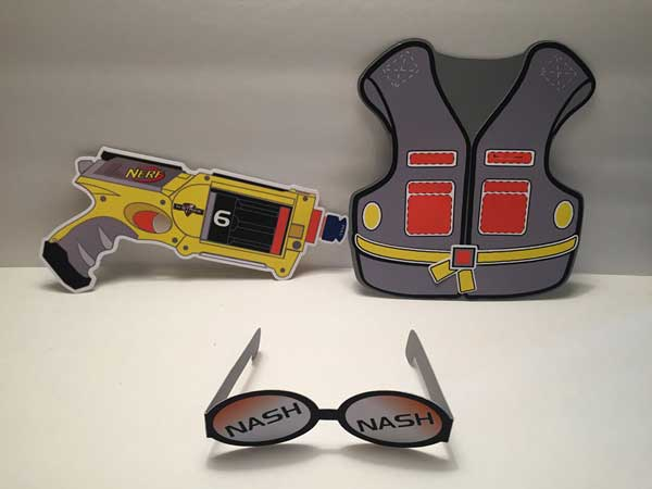 nerf gun invitation
