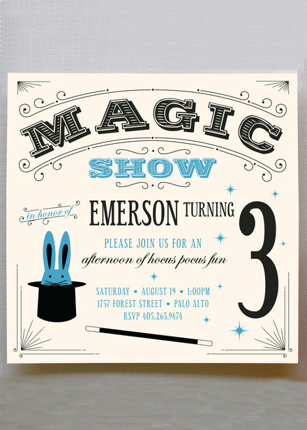 magic show invitation