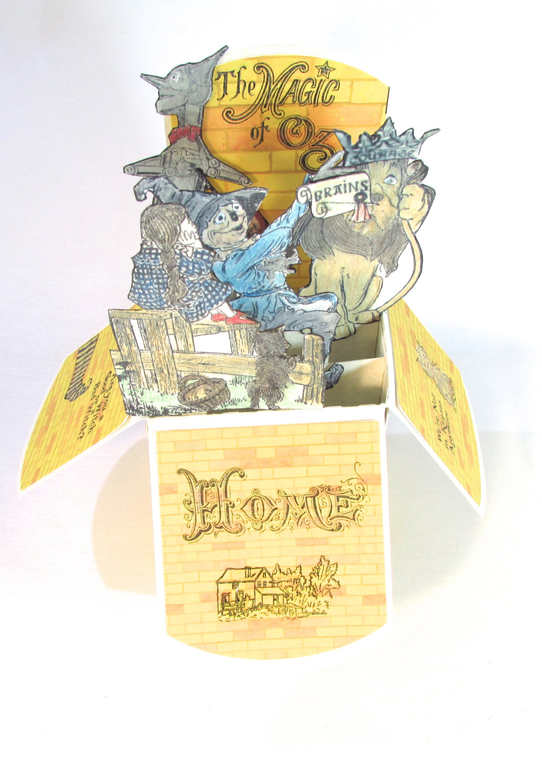 wizard of oz pop up invitation