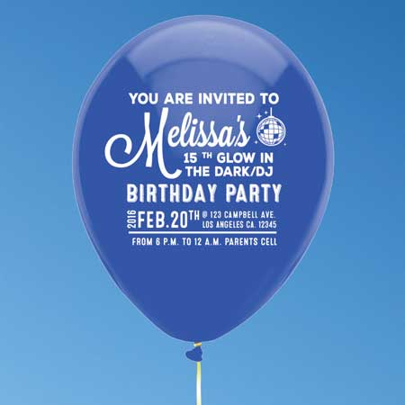 balloon invitation