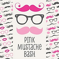 pink mustache bash party theme