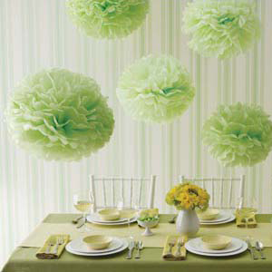 tissue pom pom decorations