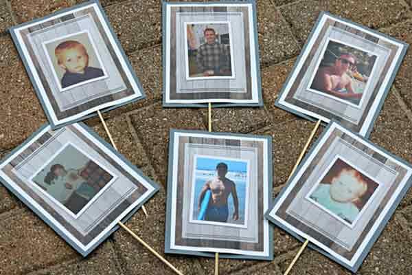 Through the Years photo centerpiece