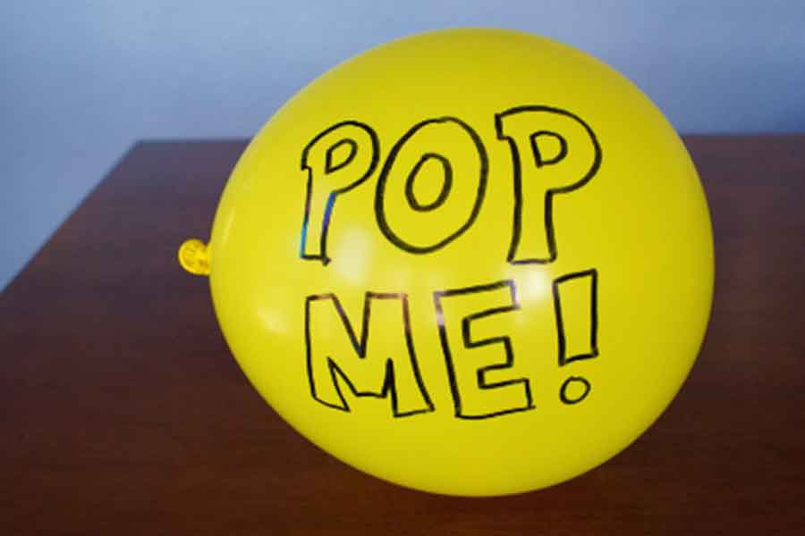 pop balloon to reveal message