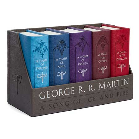 A Song of Fire and Ice (Game of Thrones) box set of books