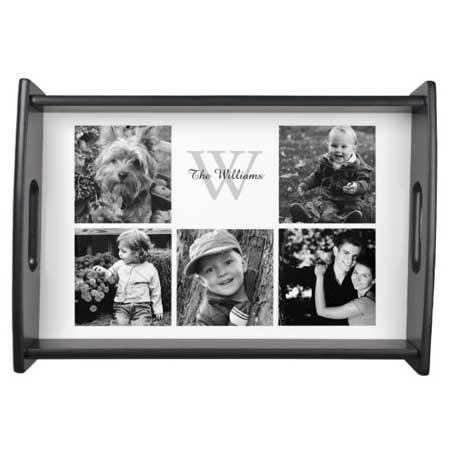 personalized photo tray