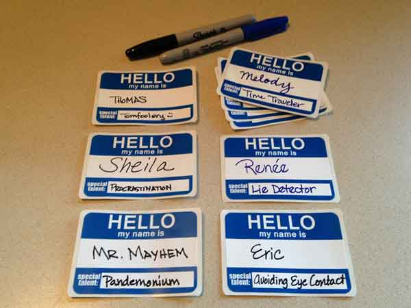 hello my name is sticker badges