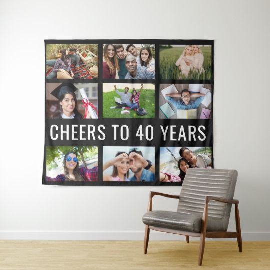 photo collage tapestry backdrop