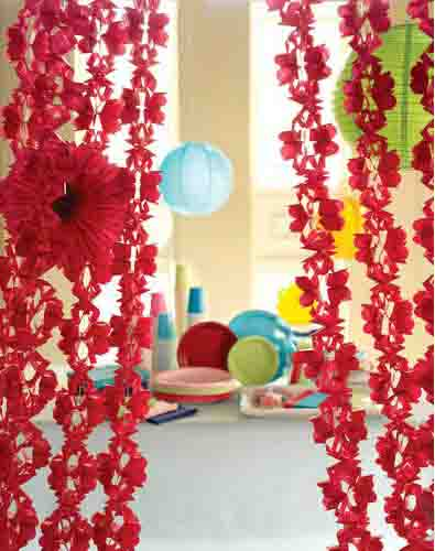 party decoration ideas paper tissue garlands