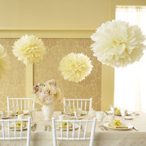 party decoration ideas pom poms