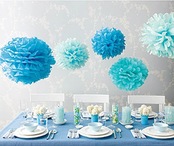 party decoration ideas pom poms